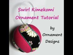 ▶ Swirl Kimekomi Ornament Tutorial - YouTube