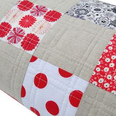 Red Pepper Quilts: A Classic Patchwork QuiltI love the simple lines of the quilting