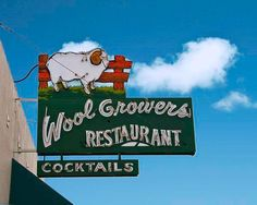 Fine Art Photo of Wool Growers Restaurant, a Basque Restaurant in Bakersfield, CA. Excellent family style restaurant