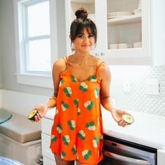 Catherine Lowe in one of our favorite summer rompers! www.milkandhoneyboutique.com