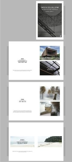 Architecture portfolio by Jhung Leung. It features simple layouts, nicely organi… Architectural portfolio by Jhung Leung. It offers simple layouts and concise compositions that can inspire anyone trying to put together a simple yet beautiful portfolio. Modelo Portfolio, Portfolio D'architecture, Portfolio Architect, Mise En Page Portfolio, Portfolio Covers, Graphic Portfolio, Company Portfolio, Design Portfolio Layout, Layout Design