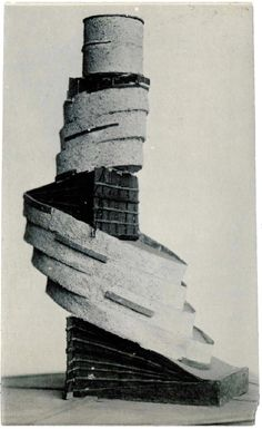 Revelation of a three-dimensional form with additional elements in space, model late 1920s.