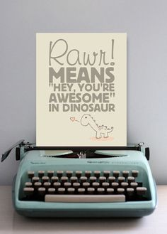 Every little one should be told how awesome they are! Great nursery print. #pinparty