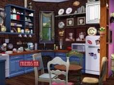 Remember the TV series Friends? Now your sims can visit the apartment of Monika and Rachel and recreate the environment at home. 26 objects made specifically for the amazing lot. Conversion from my...