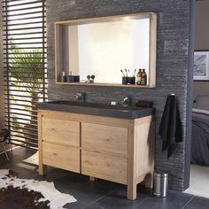 Meuble Castorama de salle de bain en chêne - Fabricant : COOKE & LEWIS Harmon.