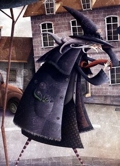 «La bruixa Maruixa»  Illustracio d'Oscar T. Perez           © Il·lustració d'Óscar T. Pérez