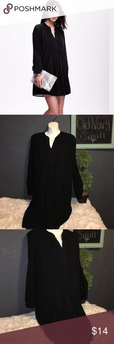 Old Navy pintuck swing dress long sleeve size S Brand new with tags size Small long sleeve black pintuck swing dress Old Navy Dresses