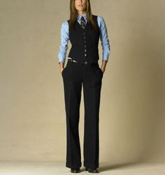 i love it when women love suits!  (Ralph Lauren from a few years ago.)