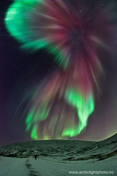 Celestial illumination, Tromsø, Northern-Norway Photo by: Ole Christian Salomonsen