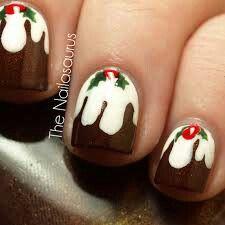 Pudding nail art