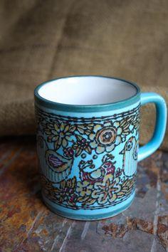 Vintage Coffee Mug Featuring Beautiful Bird by SunchowdersVintage, $10.00