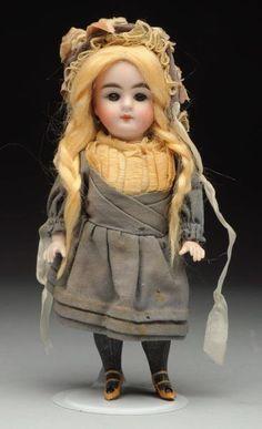 Lot # : 13 - Sweet Kestner All-Bisque Doll.