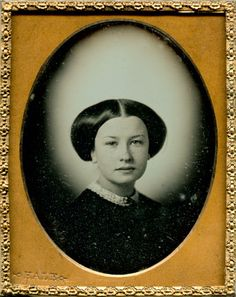 """Esther Hinckley Baker out of Providence,"" c. 1846-1850 Ninth-plate daguerreotype by Hale of Boston"