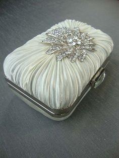 Vintage Inspired Satin Bridal Handbag