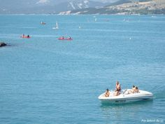 Aside from the beautiful scenery,walking & hiking trails, a magnet for local watersports & fishing fans. Savines le lac  dept 05 Alpes de Hautes Provence.