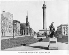 The Washington Monument at Mt. Vernon Square. Baltimore, Maryland C1900.