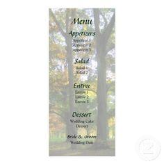 Hint of Autumn Wedding Menu by Susan Savad -- Autumn wedding menu that you can customize yourself. #wedding #weddingmenu #weddingmenus #customize #gettingmarried #autumn #fall #green   $0.55  per card   BULK PRICING AVAILABLE!