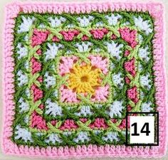 Transcendent Crochet a Solid Granny Square Ideas. Inconceivable Crochet a Solid Granny Square Ideas. Diy Tricot Crochet, Crochet Motifs, Crochet Blocks, Granny Square Crochet Pattern, Crochet Squares, Love Crochet, Crochet Granny, Crochet Crafts, Crochet Flowers