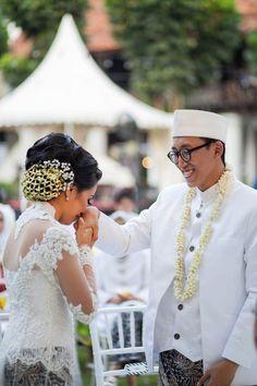Outdoor akad nikah di Gedung Arsip - www.thebridedept.com