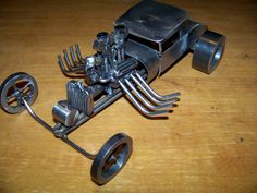 Hot Rod Coupe Super Gasser Drag Race Coupe Welded Metal Art Sculpture on Etsy, $200.00