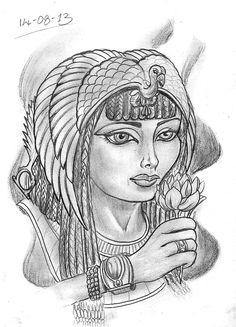 Egyptian Queen Tattoo   Egyptian Queen Tattoos Designs Queen cleopatra.