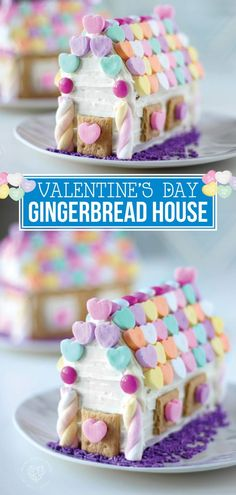 Valentine's Day Gingerbread House is incredibly fun for kids and parents to make together on Valentine's Day! Find out how fun it is to make a gingerbread house that's Valentin's Day themed, covered in hearts and tastes incredible! Make this DIY Valentine's Day gingerbread house today! #valentinesday #hearts #gingerbreadhouse #holidays #valentinesdaycraft #diy