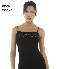 Icebreaker Nature 200 Cami Black Weave Print ( Large) | Ondergoed/Lingerie | MOOSECAMPwebshop