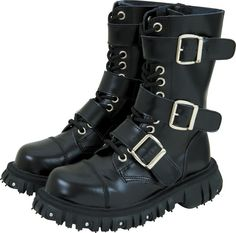 T.U.K. Heavy-Duty Leather 3-Buckle Boots