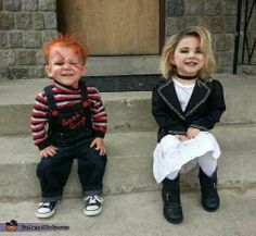 Kids dressed as Chucky & The Bride
