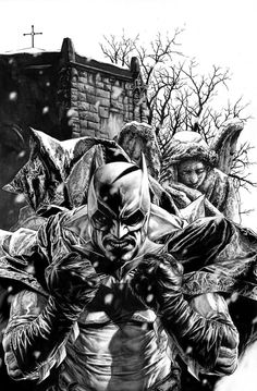 Batman and Dr. Who, or just the cover for Batman: Noel. You choose.