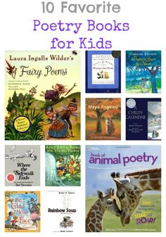 Poetry For Kids ~ 10 Favorite Poetry Books   Creekside Learning