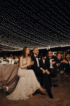 Los Angeles wedding reception under the sea of lights. Venue: Hummingbird Nest Ranch Dress: Galia Lahav Bride: Lauren Rote Youash Photographer: Jordan Voth