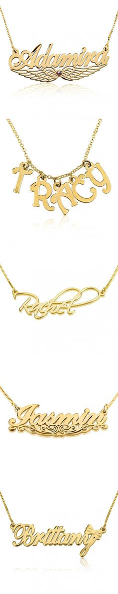 unique gold plated over sterling silver name necklaces