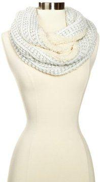 Dearfoams Women's Two Tone Knit Infinity Scarf with Sherpa Lining on shopstyle.com