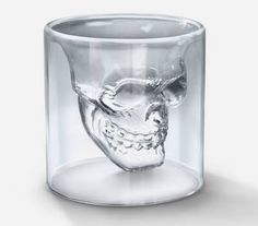 """Crystal Skull Shot Glass - looks great with """"dark"""" colored drinks like Whiskey -  little boring with Vodka. :)"""