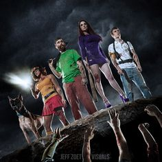 The Scooby-Doo Gang Takes On The Zombie Apocalypse [Cosplay] Zombie Apocalypse, Hanna Barbera, The Walking Dead, Scooby Doo Mystery Incorporated, Daphne And Velma, Daphne Blake, Scooby Snacks, Photo Series, Geek Girls