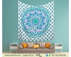 Green and Blue Queen Hippie Mandala Tapestry Indian Wall Hanging Bohemian Bedspread Throw Ethnic Dorm Decor Bed Sheet #hippie #walltapestry #bohostyle #bohemian #bedding #indiantapestry #bedsheet #bedroom #gypsy #mandala #vedindia