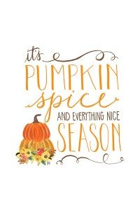 It's Pumpkin Spice Season  Free Smartphone & Desktop Wallpaper.  Also available as a free 8x10 printable    by Jessica Kirkland for TheCakeBlog.com