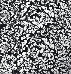 Black White Mirabella Toile Contact Paper 24 Feet