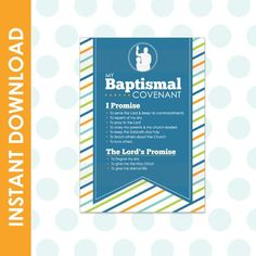 Items similar to LDS Baptism Promise Covenant - Boy Printable Multiple Sizes on Etsy My Church, Church Ideas, Kids Church, Baptismal Covenants, As You Like, Give It To Me, Sabbath Day Holy, Boy Printable, Printables