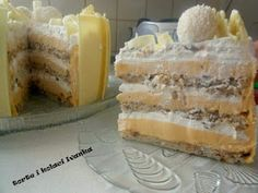 Torte i kolači Ivanka: BIJELI EGIPAT Torte Recepti, Kolaci I Torte, Baking Recipes, Cake Recipes, Dessert Recipes, Desserts, Cake Cookies, Cupcake Cakes, Cupcakes