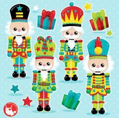 Mini Sobres De Navidad mano hecha a mano Cascanueces Santa/'s Workshop /& Pan De Jengibre