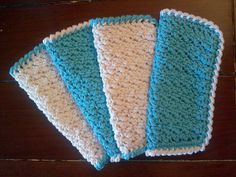 Oh So Soft Baby Washcloths. Pattern from Ravelry. Crocheted. Cotton.