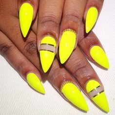 Spring/summer stiletto nails @KortenStEiN
