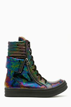 Kirk Platform Sneaker in Oil Slick by Jeffrey Campbell
