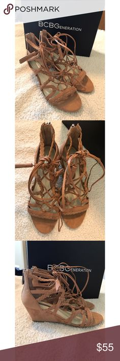 ❤️BCBGeneration Wedges❤️ New with box. Size 6.5. Lace up wedges. BCBGeneration Shoes Wedges