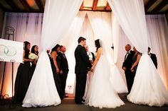 See! The decor matches her dress!  Florida Wedding by Limelight Photography - Melissa Hearts Weddings
