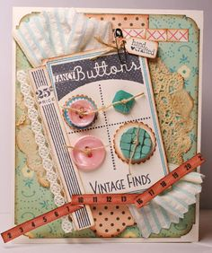 Buttons-Vintage Finds Card