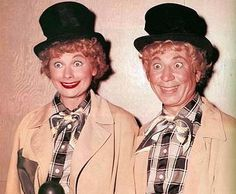 """From """"Lucy and Harpo Marx"""" - 1955 by Lucy_Fan, via Flickr"""