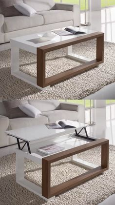 Cozy Tea Table Design Ideas That Looks Cool 22 Wooden Coffee Table Designs, Modern Coffee Tables, Modern Table, Coffee Table Chairs, Home Decor Furniture, Table Furniture, Living Room Furniture, Furniture Design, Wooden Furniture